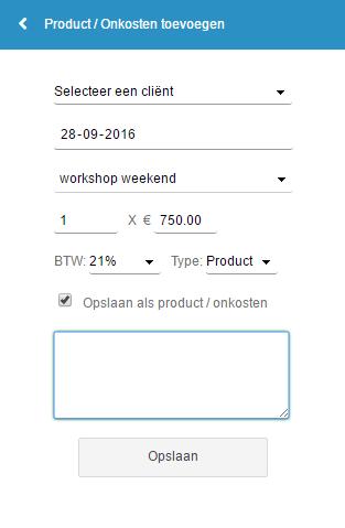 product invoeren